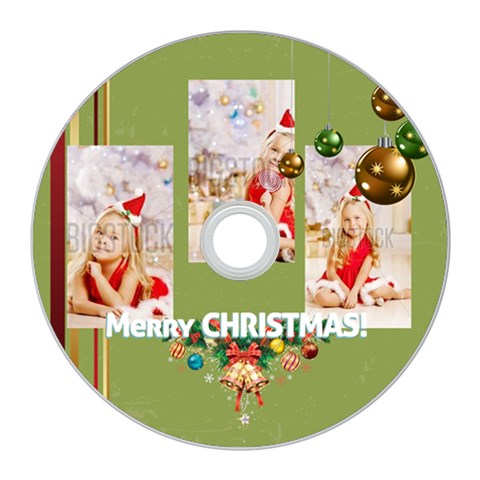 Merry Christmas By Xmas   Cd Wall Clock   J3nfr092bs50   Www Artscow Com Front