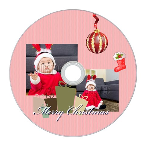 Merry Christmas By Xmas   Cd Wall Clock   3na2zh2lvuwr   Www Artscow Com Front