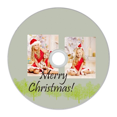 Merry Christmas By Xmas   Cd Wall Clock   Nkdy2nejlq0m   Www Artscow Com Front