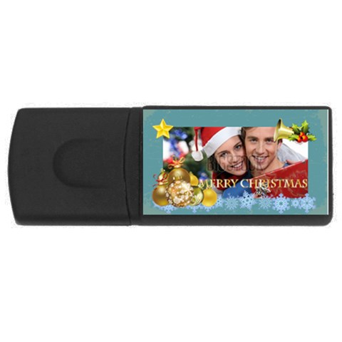 Merry Christmas By Xmas   Usb Flash Drive Rectangular (2 Gb)   M9ogcv1017r3   Www Artscow Com Front