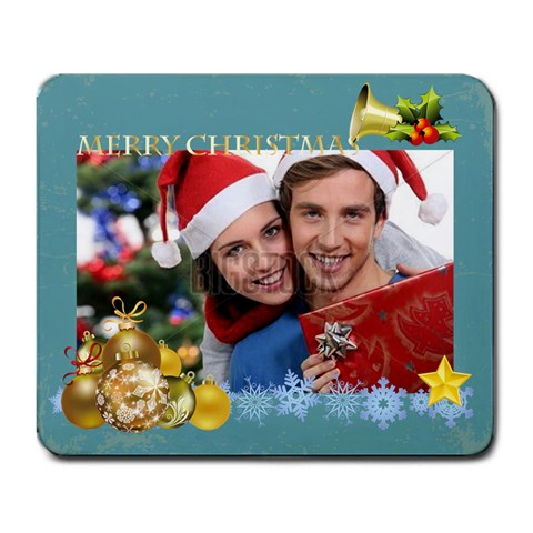 Merry Christmas By Xmas   Large Mousepad   U496lwhqo71n   Www Artscow Com Front