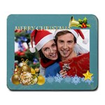 merry christmas - Large Mousepad