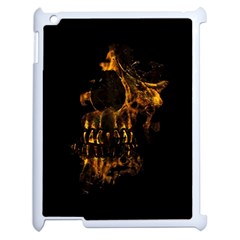 Skull Burning Digital Collage Illustration Apple Ipad 2 Case (white) by dflcprints