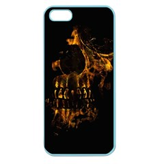 Skull Burning Digital Collage Illustration Apple Seamless Iphone 5 Case (color) by dflcprints