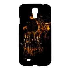 Skull Burning Digital Collage Illustration Samsung Galaxy S4 I9500/i9505 Hardshell Case by dflcprints