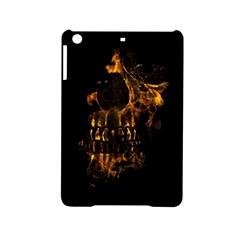 Skull Burning Digital Collage Illustration Apple iPad Mini 2 Hardshell Case by dflcprints