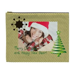 Merry Christmas By Xmas   Cosmetic Bag (xl)   43x6lnpix7wj   Www Artscow Com Front