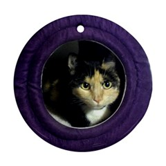 Gracie Ornament By Katrina   Round Ornament (two Sides)   V5atpyr830a3   Www Artscow Com Front