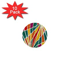 Multicolored Vibrations 1  Mini Button (10 Pack) by dflcprints