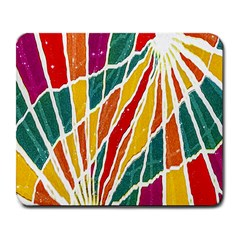 Multicolored Vibrations Large Mouse Pad (rectangle) by dflcprints