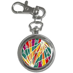 Multicolored Vibrations Key Chain Watch by dflcprints