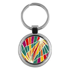 Multicolored Vibrations Key Chain (round) by dflcprints