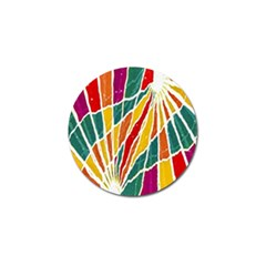 Multicolored Vibrations Golf Ball Marker 4 Pack by dflcprints