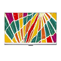 Multicolored Vibrations Business Card Holder by dflcprints