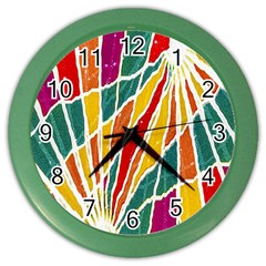 Multicolored Vibrations Wall Clock (color) by dflcprints