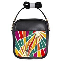 Multicolored Vibrations Girl s Sling Bag by dflcprints