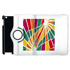 Multicolored Vibrations Apple Ipad 2 Flip 360 Case by dflcprints