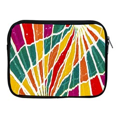 Multicolored Vibrations Apple Ipad Zippered Sleeve by dflcprints