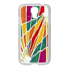 Multicolored Vibrations Samsung Galaxy S4 I9500/ I9505 Case (white) by dflcprints