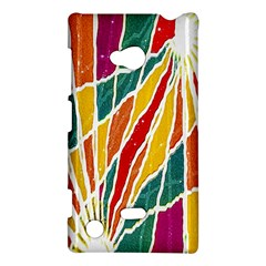 Multicolored Vibrations Nokia Lumia 720 Hardshell Case by dflcprints