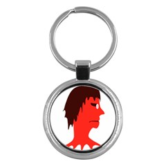 Monster with Men Head Illustration Key Chain (Round) by dflcprints