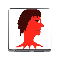 Monster With Men Head Illustration Memory Card Reader With Storage (square) by dflcprints