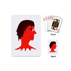 Monster with Men Head Illustration Playing Cards (Mini) by dflcprints