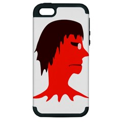 Monster With Men Head Illustration Apple Iphone 5 Hardshell Case (pc+silicone) by dflcprints