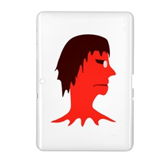Monster With Men Head Illustration Samsung Galaxy Tab 2 (10 1 ) P5100 Hardshell Case  by dflcprints