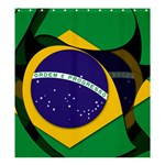 Brazil Shower Curtain 66  x 72  (Large)