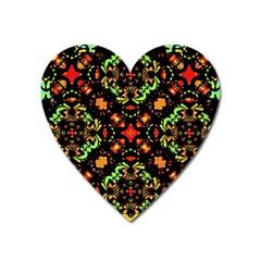 Intense Floral Refined Art Print Magnet (heart) by dflcprints