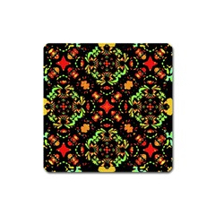 Intense Floral Refined Art Print Magnet (square) by dflcprints