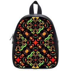 Intense Floral Refined Art Print School Bag (small) by dflcprints