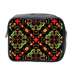 Intense Floral Refined Art Print Mini Travel Toiletry Bag (two Sides) by dflcprints