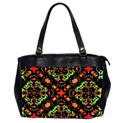 Intense Floral Refined Art Print Oversize Office Handbag (two Sides) by dflcprints