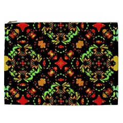 Intense Floral Refined Art Print Cosmetic Bag (xxl) by dflcprints