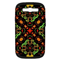 Intense Floral Refined Art Print Samsung Galaxy S Iii Hardshell Case (pc+silicone) by dflcprints