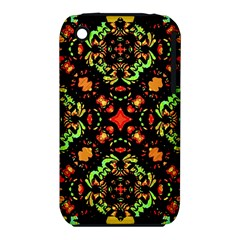 Intense Floral Refined Art Print Apple Iphone 3g/3gs Hardshell Case (pc+silicone) by dflcprints