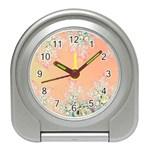 Peach Spring Frost On Flowers Fractal Desk Alarm Clock