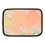 Peach Spring Frost On Flowers Fractal Netbook Sleeve (Medium)