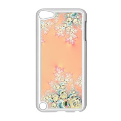 Peach Spring Frost On Flowers Fractal Apple Ipod Touch 5 Case (white) by Artist4God