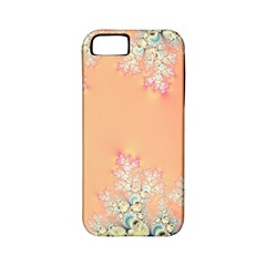 Peach Spring Frost On Flowers Fractal Apple Iphone 5 Classic Hardshell Case (pc+silicone) by Artist4God