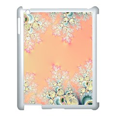 Peach Spring Frost On Flowers Fractal Apple Ipad 3/4 Case (white) by Artist4God