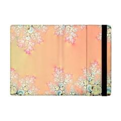 Peach Spring Frost On Flowers Fractal Apple Ipad Mini 2 Flip Case by Artist4God