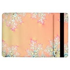 Peach Spring Frost On Flowers Fractal Apple Ipad Air Flip Case by Artist4God