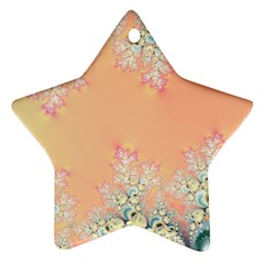 Peach Spring Frost On Flowers Fractal Star Ornament (two Sides) by Artist4God