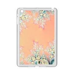Peach Spring Frost On Flowers Fractal Apple Ipad Mini 2 Case (white) by Artist4God
