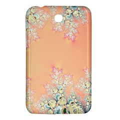Peach Spring Frost On Flowers Fractal Samsung Galaxy Tab 3 (7 ) P3200 Hardshell Case  by Artist4God