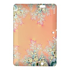 Peach Spring Frost On Flowers Fractal Kindle Fire HDX 8.9  Hardshell Case by Artist4God