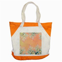 Peach Spring Frost On Flowers Fractal Accent Tote Bag